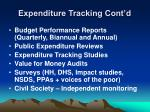 expenditure tracking cont d1