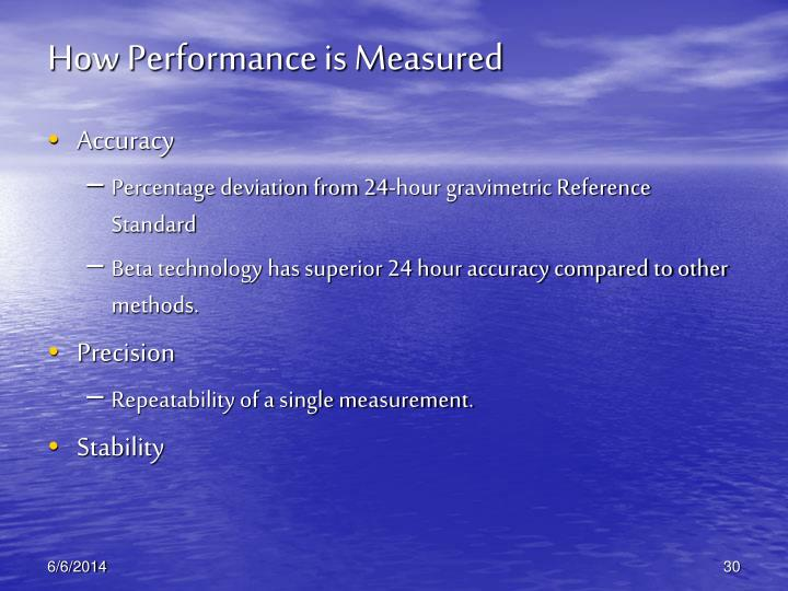 How Performance is Measured