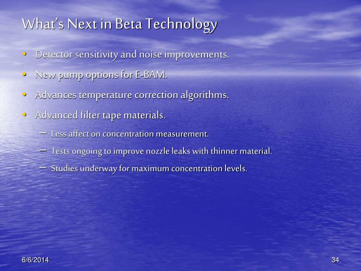 What's Next in Beta Technology