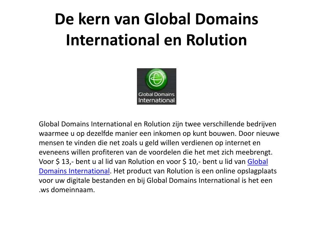 De kern van Global