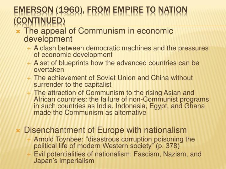The appeal of Communism in economic development