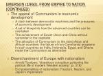 emerson 1960 from empire to nation continued