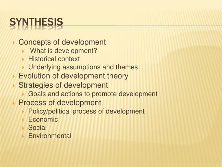 Concepts of development