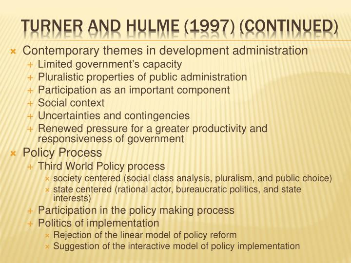Contemporary themes in development administration