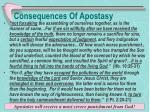consequences of apostasy