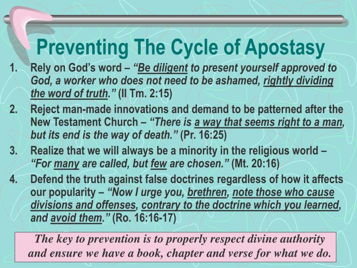 Preventing The Cycle of Apostasy