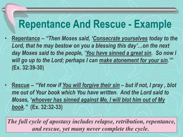 Repentance And Rescue - Example