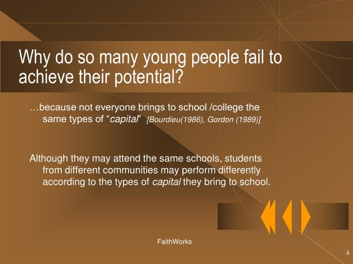 Why do so many young people fail to achieve their potential?