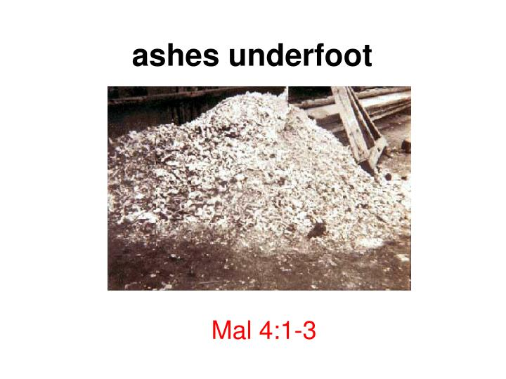 ashes underfoot