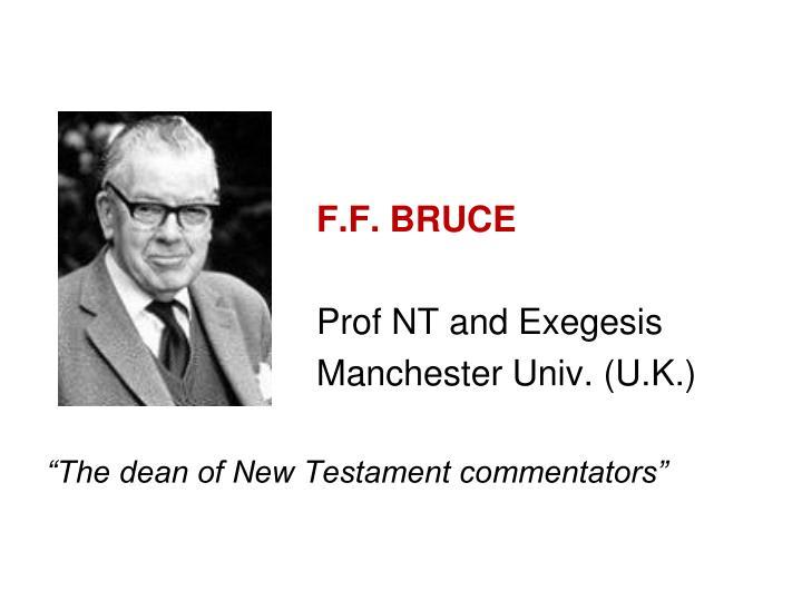F.F. BRUCE