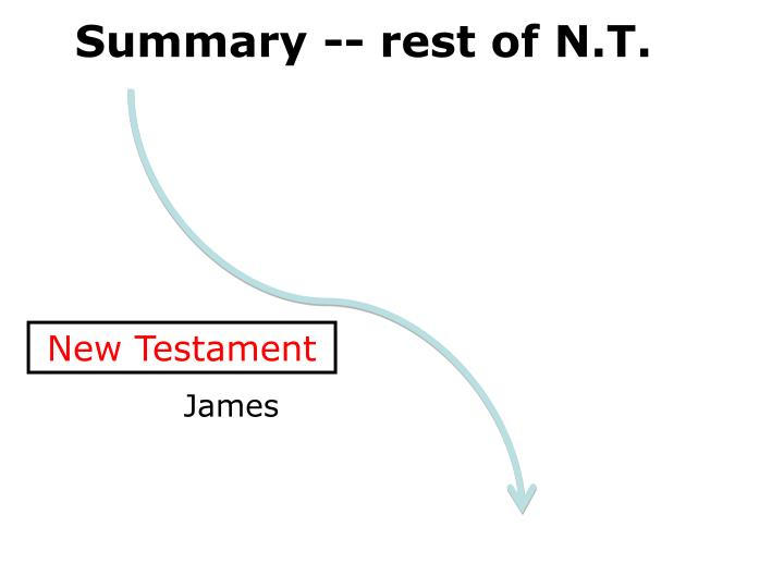 Summary -- rest of N.T.