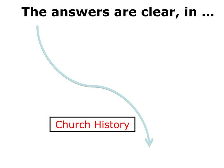 The answers are clear, in …