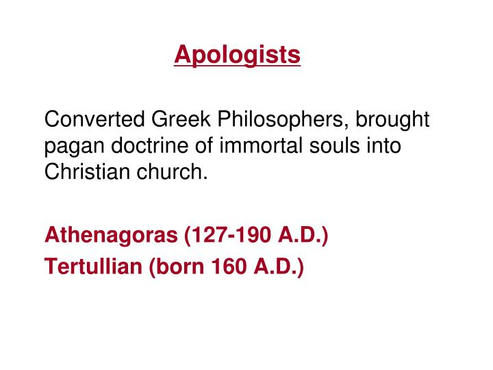 Apologists