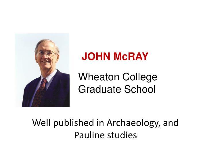 JOHN McRAY