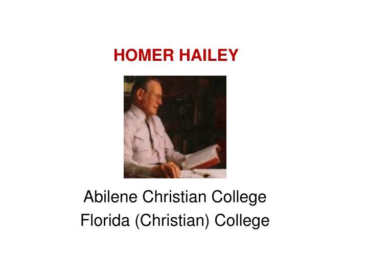 HOMER HAILEY