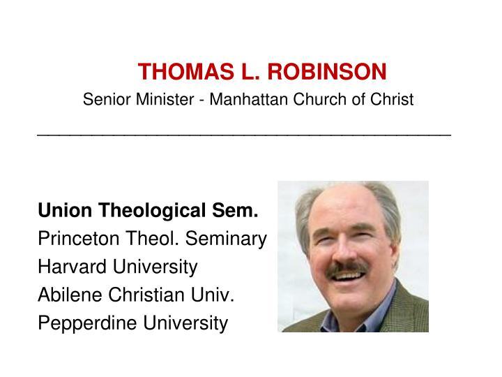 THOMAS L. ROBINSON