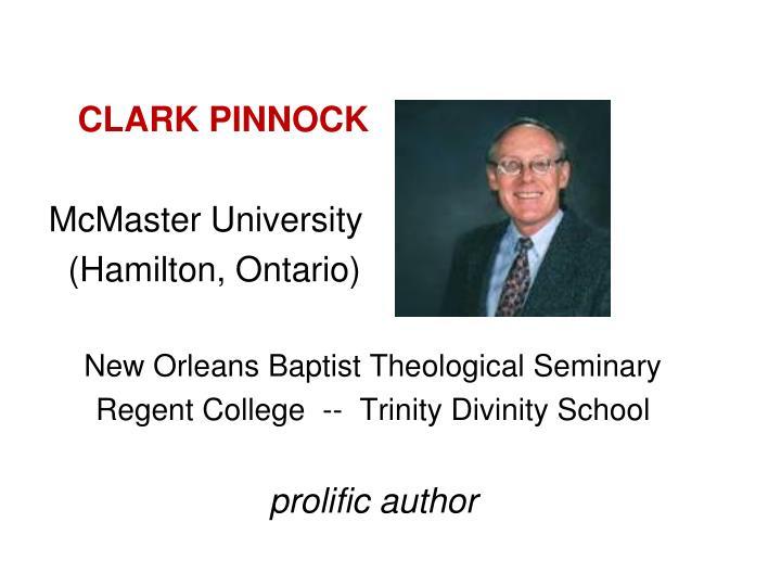 CLARK PINNOCK