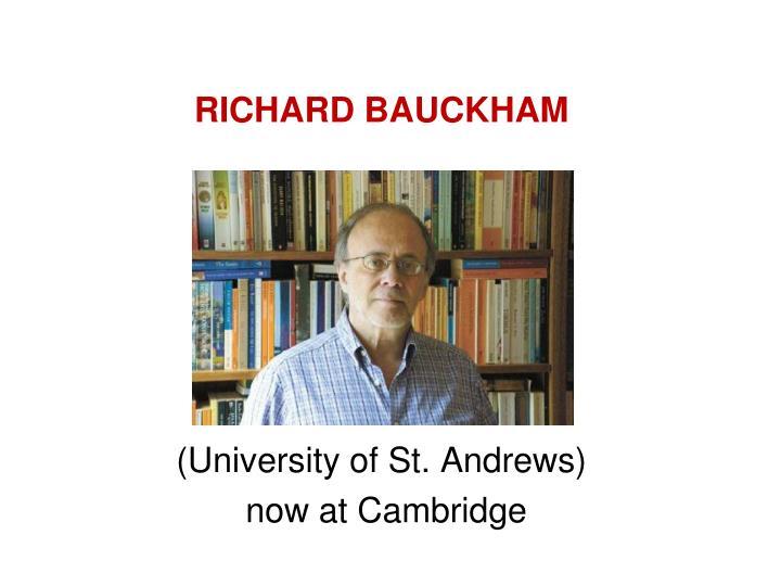 RICHARD BAUCKHAM