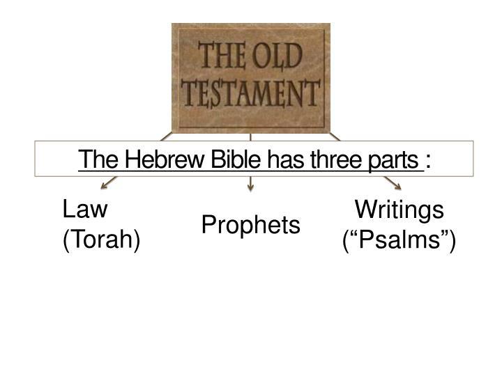 The Hebrew Bible has three parts