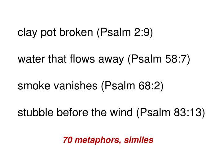 clay pot broken (Psalm 2:9)