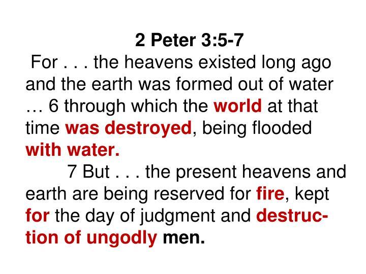 2 Peter 3:5-7