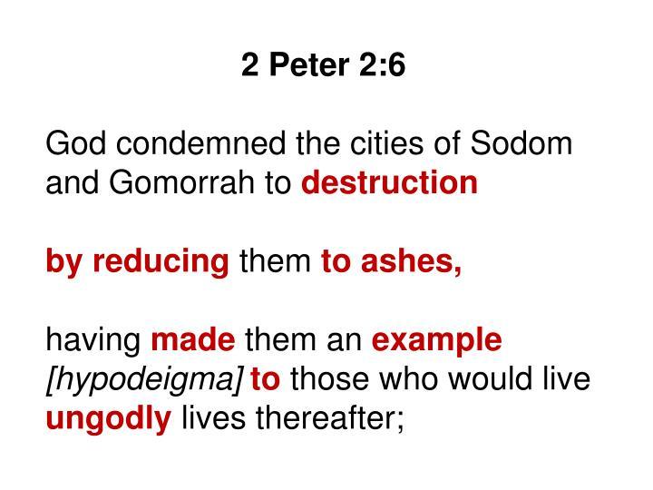 2 Peter 2:6
