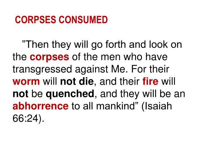 CORPSES CONSUMED