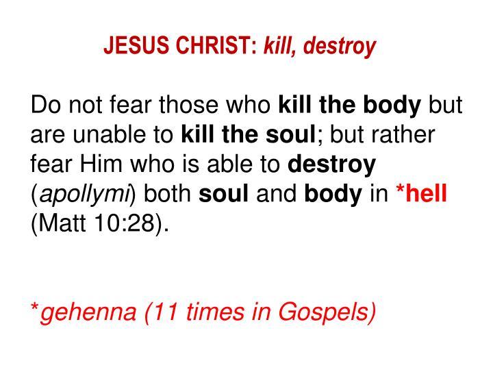 JESUS CHRIST: