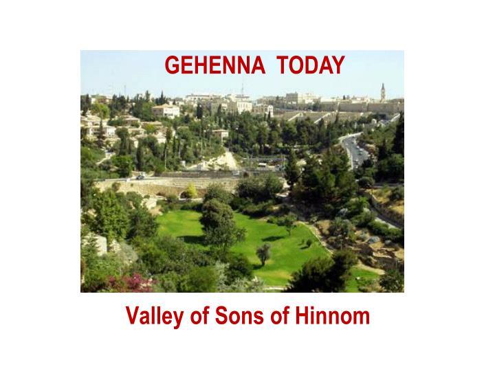 Valley of Sons of Hinnom