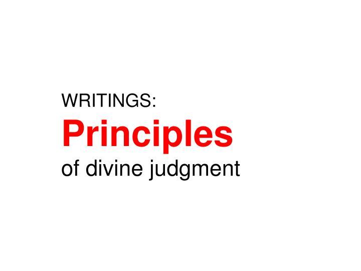 WRITINGS:
