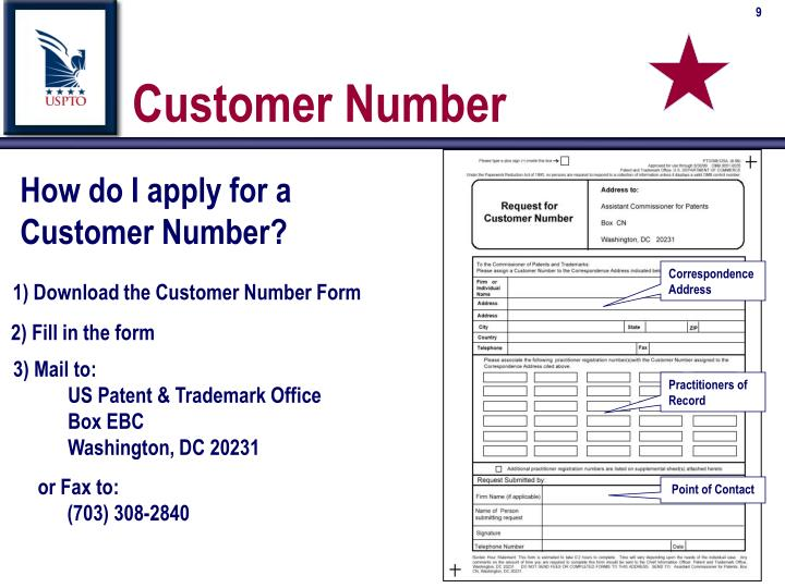 How do I apply for a Customer Number?