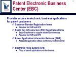 patent electronic business center ebc