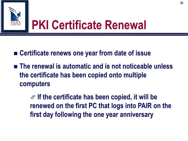PKI Certificate Renewal