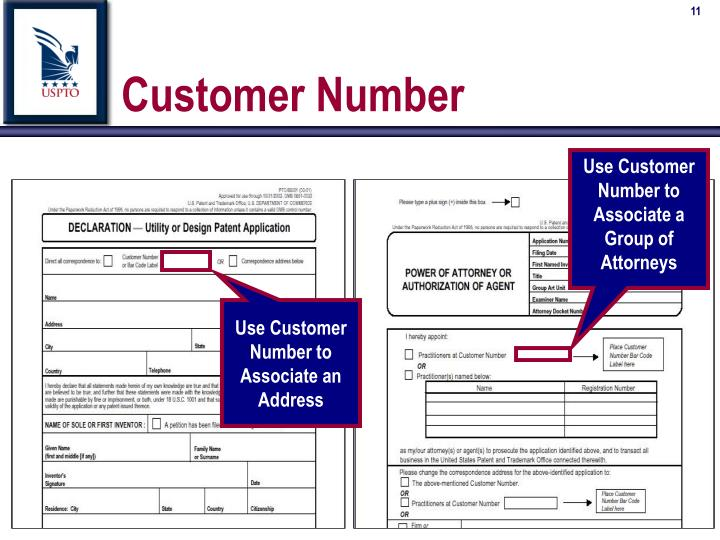 Use Customer Number to Associate a Group of Attorneys