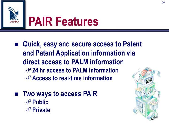 PAIR Features