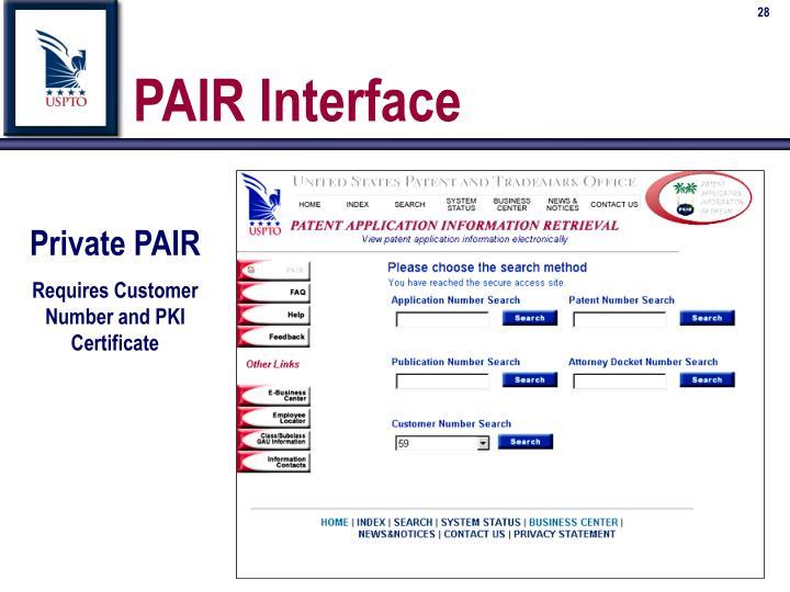 PAIR Interface