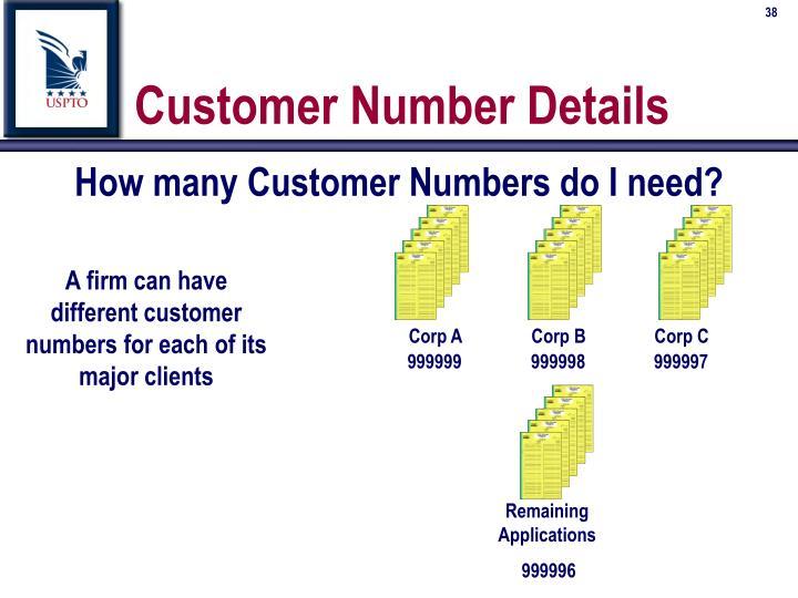 How many Customer Numbers do I need?