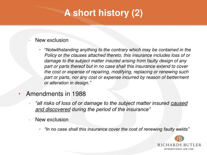A short history (2)