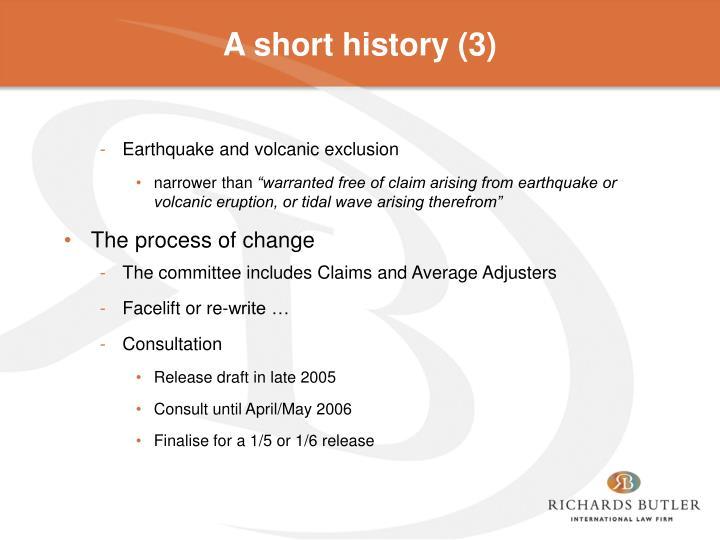 A short history (3)