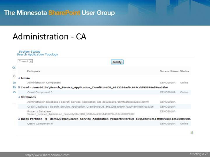 Administration - CA