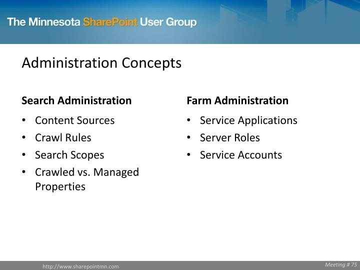 Administration Concepts