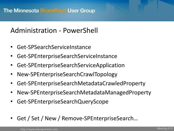Administration - PowerShell