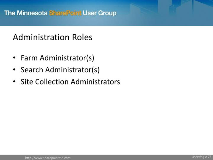 Administration Roles