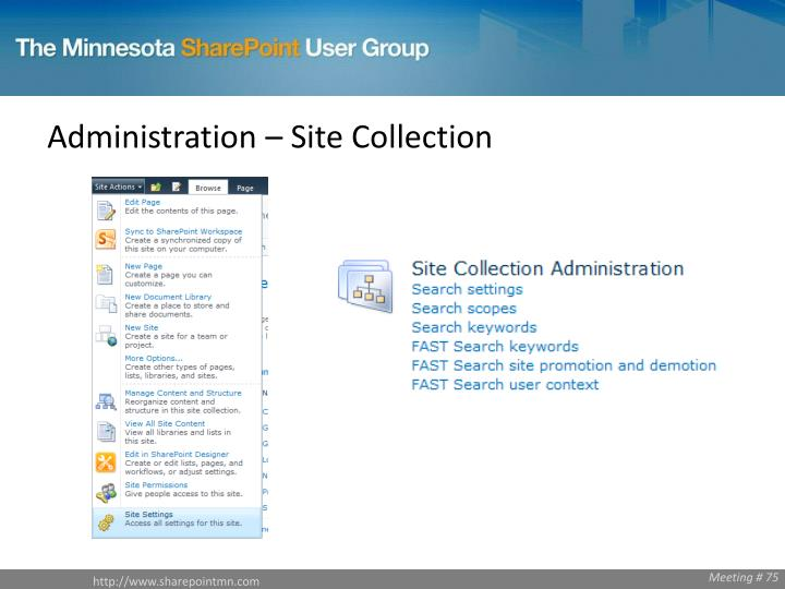 Administration – Site Collection