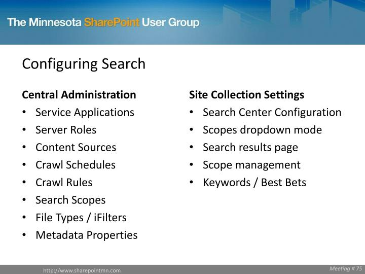 Configuring Search