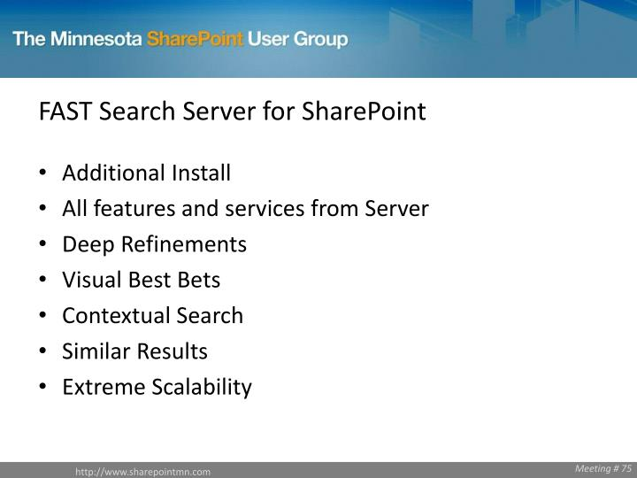 FAST Search Server for SharePoint
