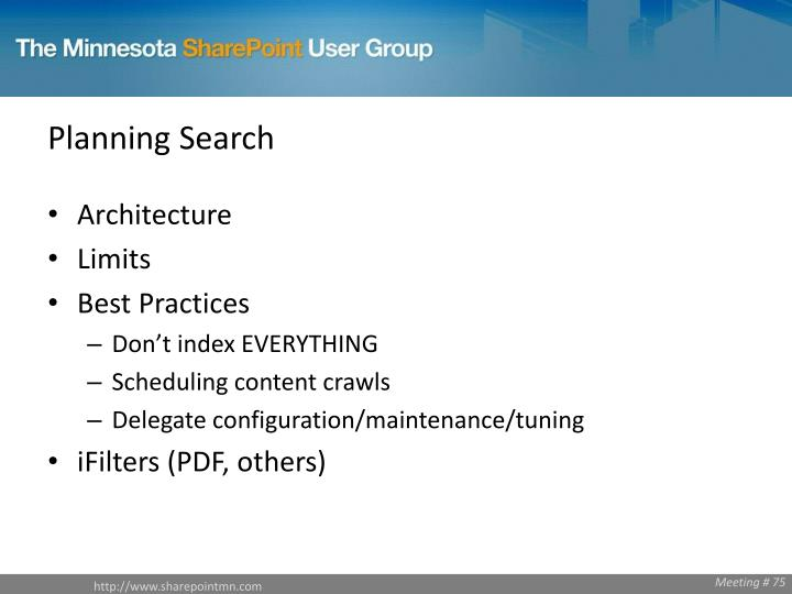 Planning Search