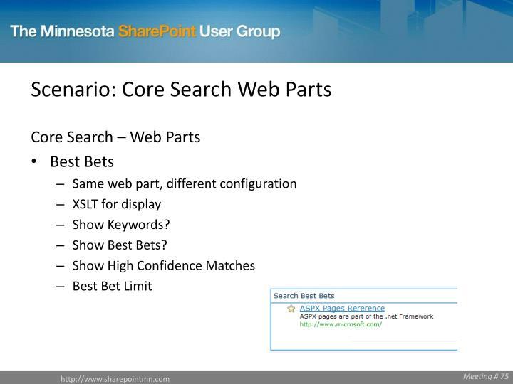 Scenario: Core Search Web Parts