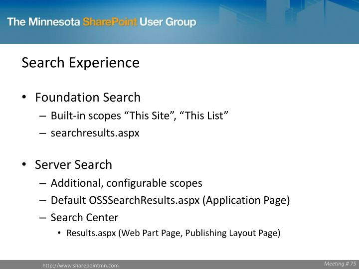 Search Experience
