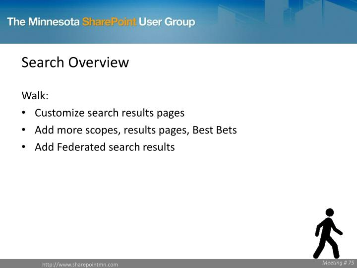 Search Overview